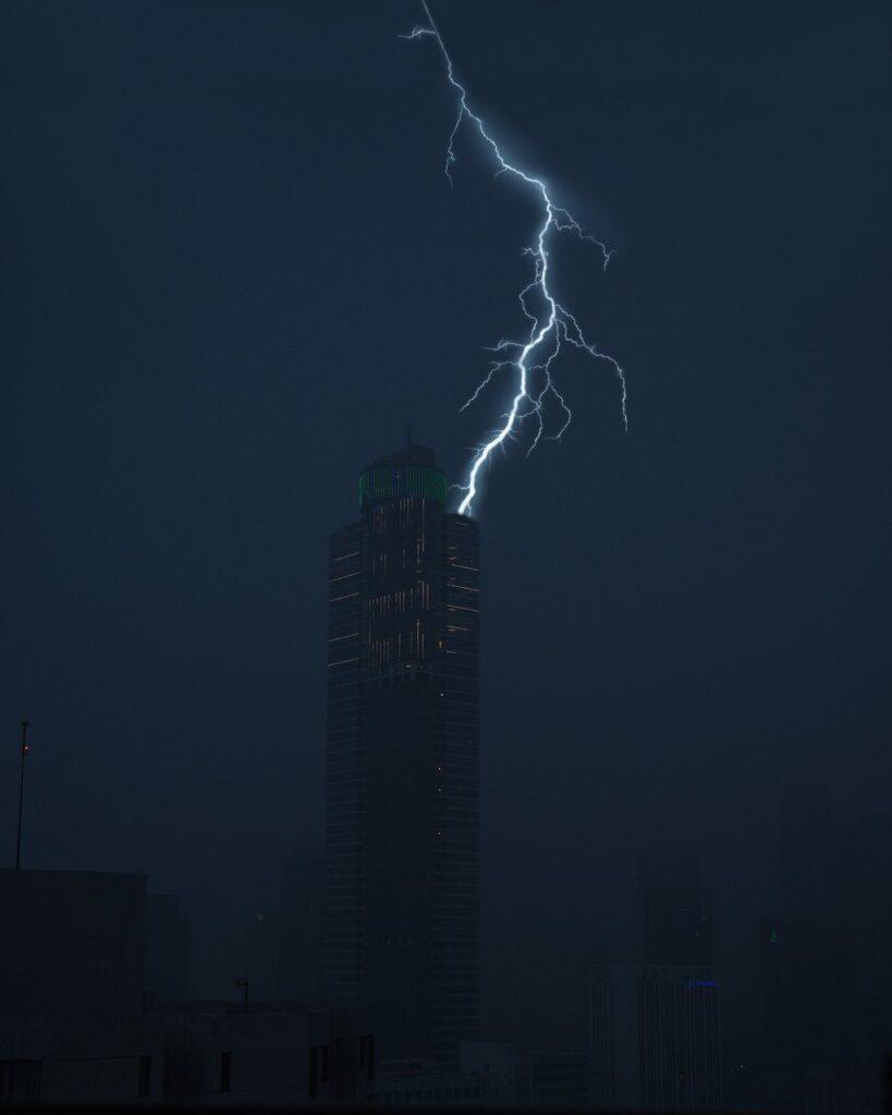 lightning, rain, storm